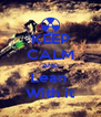 KEEP CALM AND Lean  With it - Personalised Poster A4 size