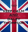 KEEP CALM  AND  LEARN ABOUT DALEY THOMPSON - Personalised Poster A4 size