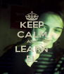 KEEP CALM AND LEARN EL - Personalised Poster A4 size