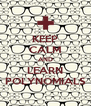 KEEP CALM AND LEARN POLYNOMIALS - Personalised Poster A4 size