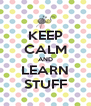KEEP CALM AND LEARN STUFF - Personalised Poster A4 size