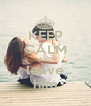 KEEP CALM AND leave him - Personalised Poster A4 size
