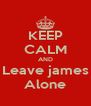 KEEP CALM AND Leave james Alone - Personalised Poster A4 size