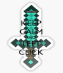 KEEP CALM AND LEFT CLICK - Personalised Poster A4 size