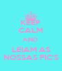 KEEP CALM AND  LEIAM AS NOSSAS FIC'S - Personalised Poster A4 size