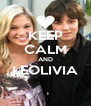 KEEP CALM AND LEOLIVIA  - Personalised Poster A4 size