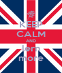 KEEP CALM AND lern more - Personalised Poster A4 size