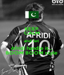 KEEP CALM and let Afridi handle it... BOOM BOOM style - Personalised Poster A4 size