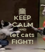 KEEP CALM AND let cats FIGHT! - Personalised Poster A4 size