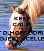KEEP CALM AND LET D HORSE DRINK PROJECT XCELLECE - Personalised Poster A4 size