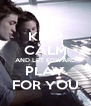 KEEP CALM AND LET EDWARD PLAY FOR YOU - Personalised Poster A4 size