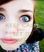 KEEP CALM AND LET IT BEE - Personalised Poster A4 size