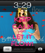 KEEP CALM AND LET IT FLOW! - Personalised Poster A4 size