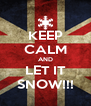 KEEP CALM AND LET IT SNOW!!! - Personalised Poster A4 size