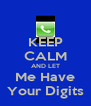 KEEP CALM AND LET Me Have Your Digits - Personalised Poster A4 size