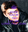 KEEP CALM AND LET ME  LOVE YOU JUJU - Personalised Poster A4 size