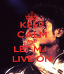 KEEP CALM AND LET MJ  LIVE ON - Personalised Poster A4 size