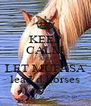 KEEP CALM AND LET MUFASA lead d horses - Personalised Poster A4 size