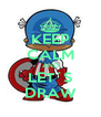 KEEP CALM AND LET´S DRAW - Personalised Poster A4 size