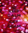 KEEP CALM AND LET´S GET GLAM - Personalised Poster A4 size