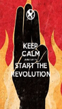 KEEP CALM AND LET'S START THE REVOLUTION - Personalised Poster A4 size