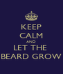 KEEP CALM AND LET THE  BEARD GROW - Personalised Poster A4 size