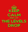 KEEP CALM AND LET THE LEVELS DROP - Personalised Poster A4 size