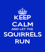 KEEP CALM AND LET THE SQUIRRELS RUN - Personalised Poster A4 size