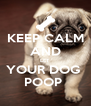 KEEP CALM AND LET  YOUR DOG  POOP  - Personalised Poster A4 size