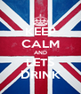 KEEP CALM AND LETS DRINK - Personalised Poster A4 size