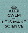KEEP CALM AND LETS MAKE SCIENCE - Personalised Poster A4 size