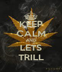 KEEP CALM AND LETS  TRILL  - Personalised Poster A4 size