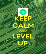 KEEP CALM AND LEVEL UP - Personalised Poster A4 size