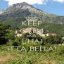 KEEP CALM AND L'HAI ITTA BELLA! - Personalised Poster A4 size