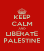 KEEP CALM AND LIBERATE PALESTINE - Personalised Poster A4 size