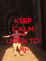 KEEP CALM AND LICEN TO -Rj- - Personalised Poster A4 size