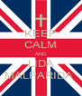 KEEP CALM AND LIDA MALPARIDA  - Personalised Poster A4 size