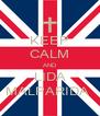 KEEP CALM AND LIDA MALPARIDA  - Personalised Poster A4 size