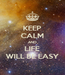 KEEP CALM AND LIFE WILL BE EASY - Personalised Poster A4 size