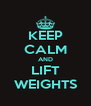 KEEP CALM AND LIFT WEIGHTS - Personalised Poster A4 size