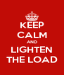 KEEP CALM AND LIGHTEN THE LOAD - Personalised Poster A4 size