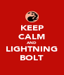 KEEP CALM AND LIGHTNING BOLT - Personalised Poster A4 size