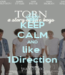 KEEP CALM AND like  1Direction - Personalised Poster A4 size