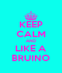 KEEP CALM AND LIKE A BRUINO - Personalised Poster A4 size