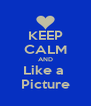 KEEP CALM AND Like a  Picture - Personalised Poster A4 size