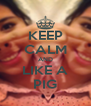 KEEP CALM AND LIKE A PIG - Personalised Poster A4 size