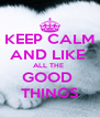 KEEP CALM AND LIKE  ALL THE  GOOD  THINGS - Personalised Poster A4 size