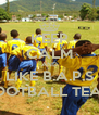 KEEP CALM AND LIKE B.A.P.S FOOTBALL TEAM - Personalised Poster A4 size