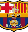 KEEP CALM AND LIKE BARCA - Personalised Poster A4 size