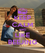 KEEP CALM AND LIKE BEEJING - Personalised Poster A4 size